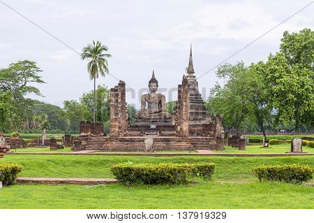 The Sukhothai world heritagethe ancient temple at the Sukhothai historical park.