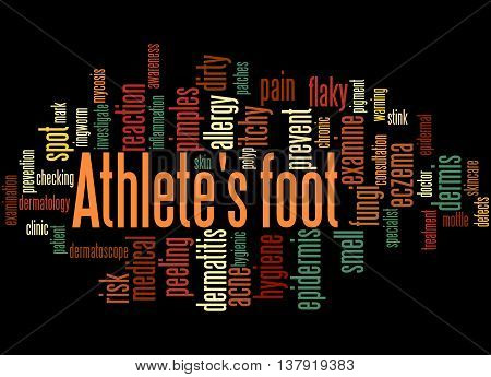 Athlete's Foot, Word Cloud Concept 4
