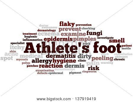 Athlete's Foot, Word Cloud Concept 6