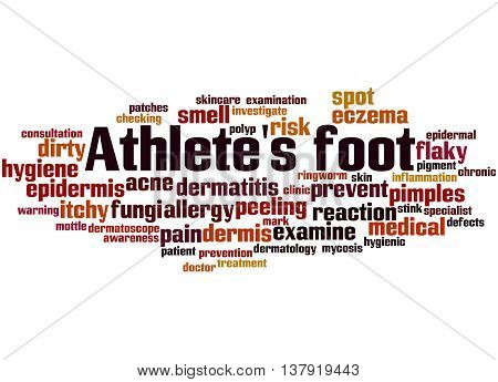 Athlete's Foot, Word Cloud Concept 8