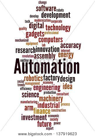 Automation, Word Cloud Concept 9
