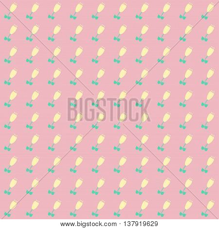 ditsy pastels floral print. Pattern with flowers.