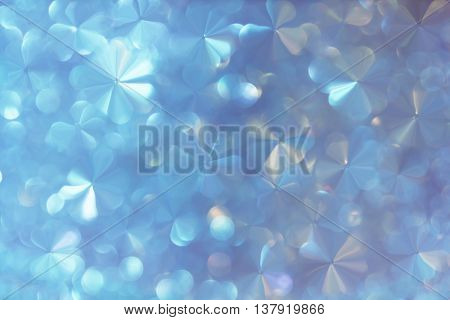 Abstract Flowers Soft White Pearl And Pastel Blue With Bokeh