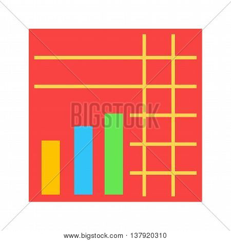 Graph, chart, stacked icon vector image. Can also be used for infographics. Suitable for use on web apps, mobile apps and print media.