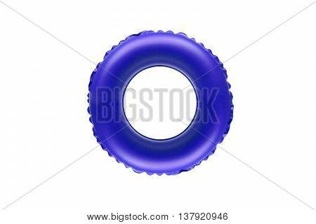 blue lifesaver for kid isolated on white