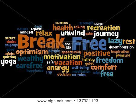 Break Free, Word Cloud Concept 3