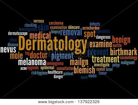 Dermatology, Word Cloud Concept 6
