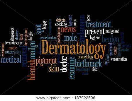 Dermatology, Word Cloud Concept 9