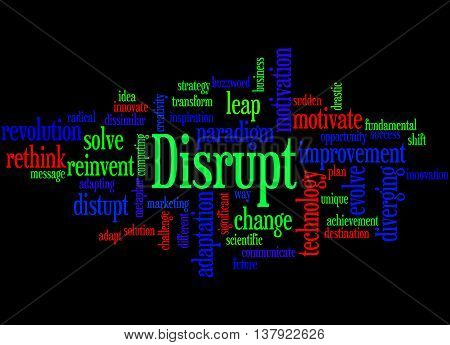 Disrupt, Word Cloud Concept