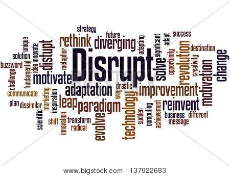 Disrupt, Word Cloud Concept 4