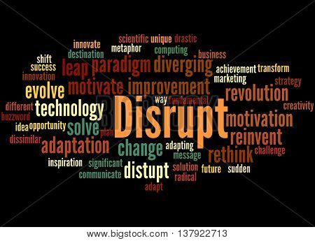 Disrupt, Word Cloud Concept 5