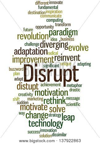 Disrupt, Word Cloud Concept 9