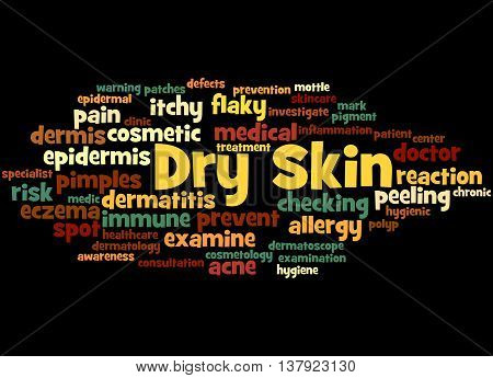 Dry Skin, Word Cloud Concept