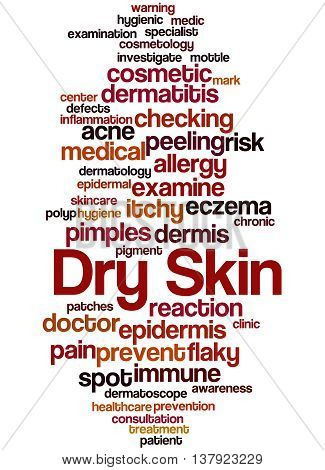 Dry Skin, Word Cloud Concept 3