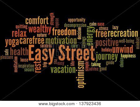 Easy Street, Word Cloud Concept