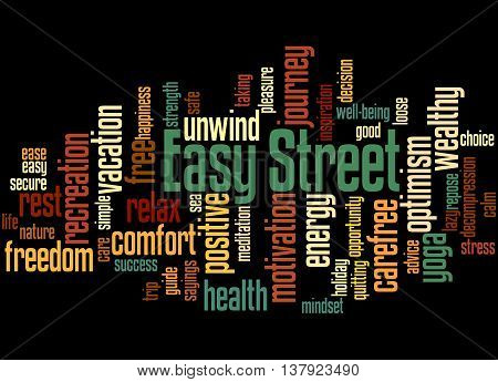 Easy Street, Word Cloud Concept 3