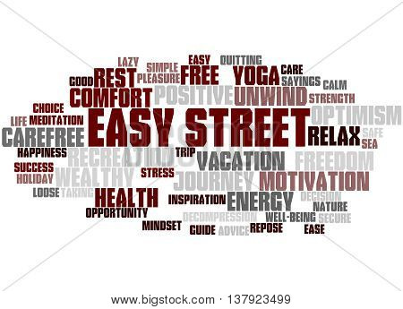 Easy Street, Word Cloud Concept 4