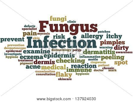 Fungus Infection, Word Cloud Concept 2