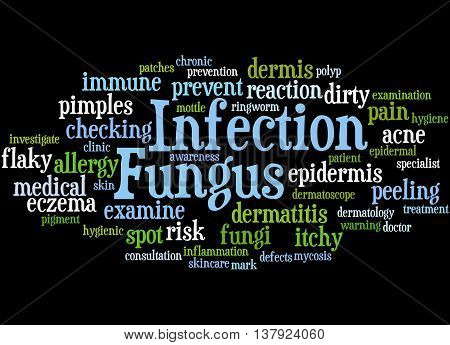 Fungus Infection, Word Cloud Concept 3