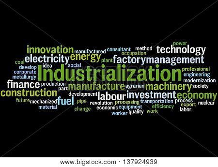 Industrialization, Word Cloud Concept