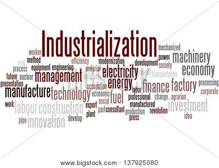 Industrialization, Word Cloud Concept 4