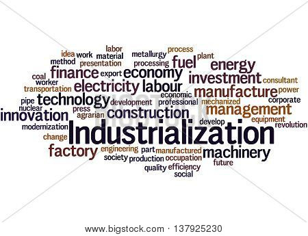 Industrialization, Word Cloud Concept 7