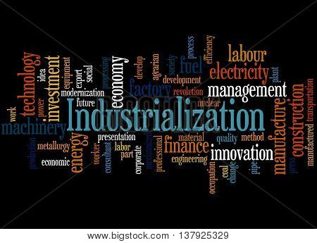 Industrialization, Word Cloud Concept 9