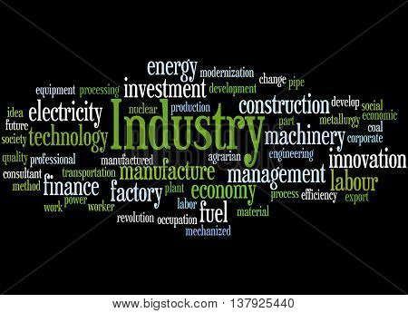 Industry, Word Cloud Concept
