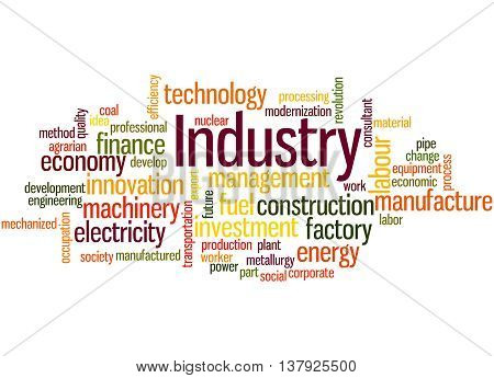 Industry, Word Cloud Concept 3