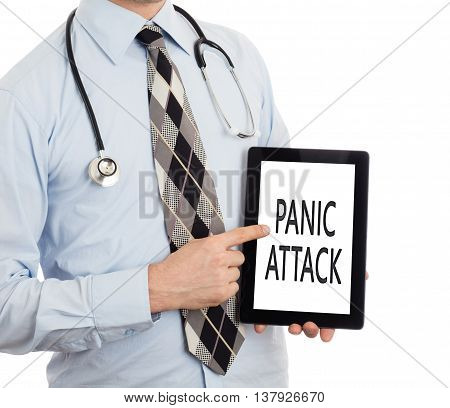 Doctor Holding Tablet - Panic Attack