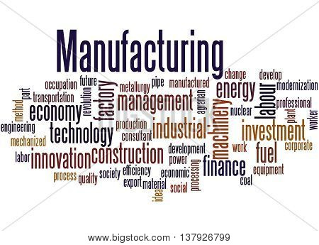 Manufacturing, Word Cloud Concept 7
