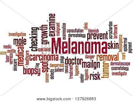 Melanoma, Word Cloud Concept