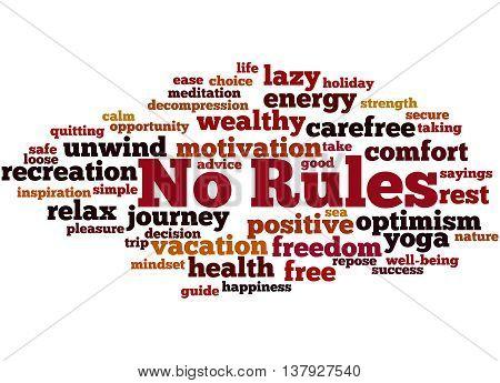 No Rules, Word Cloud Concept 8
