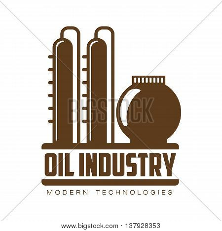 set of logos with oil, vectors flat illustration isolated on a white background. industry of oil and gas, construction logo on petroleum production. gas company