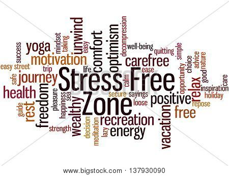 Stress Free Zone, Word Cloud Concept 8