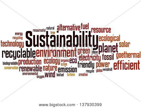 Sustainability, Word Cloud Concept 9