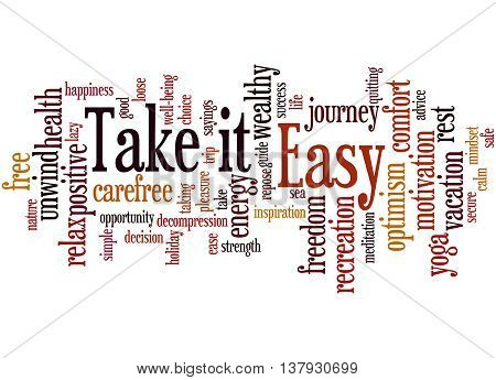 Take It Easy, Word Cloud Concept 5