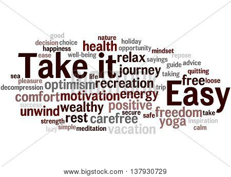 Take It Easy, Word Cloud Concept 6