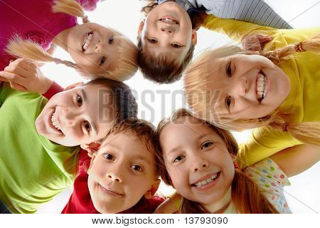 Image of happy kids representing youth and fun