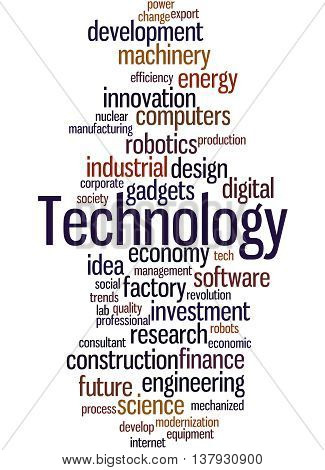 Technology, Word Cloud Concept 2