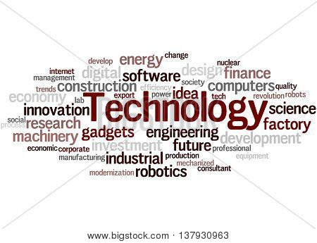 Technology, Word Cloud Concept 5