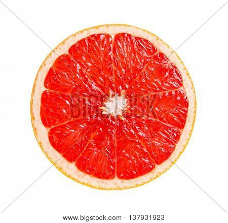 Grapefruit. Ripe grapefruit in a cut isolated on white background