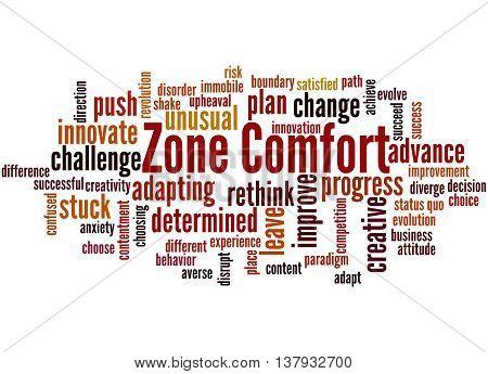 Zone Comfort, Word Cloud Concept 8