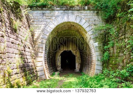 Portal on old tunnel, Koprasky tunel in Slovakia
