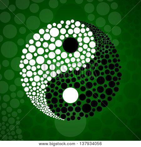 Abstract symbol ying yang of harmony and balance