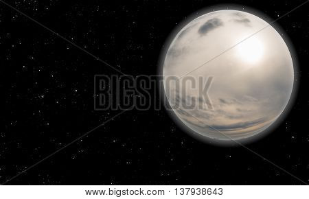 Strange Worlds And Planets And Moons. Distant Galaxies And Universes Rendering And 3D Illustration