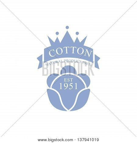 Cotton Product Logo Vector Classic Style Design On White Background