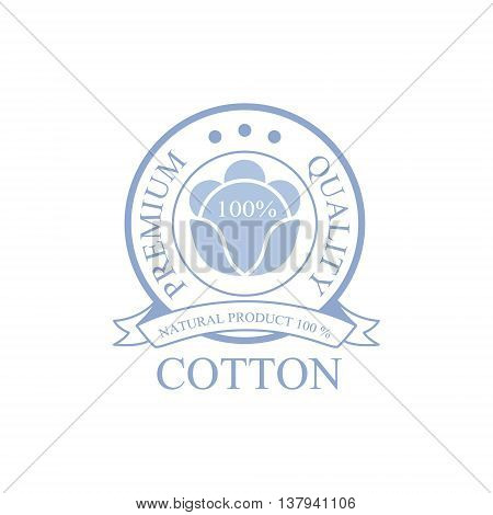 Premium Qality Cotton Product Logo Vector Classic Style Design On White Background