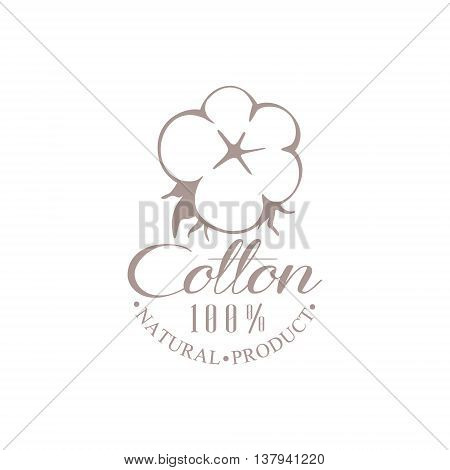 Quality Cotton Product Logo Vector Classic Style Design On White Background