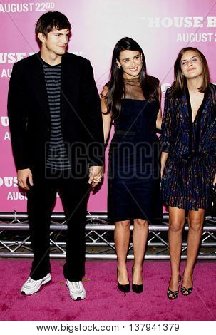 Tallulah Willis, Demi Moore and Ashton Kutcher at the Los Angeles premiere of 'The House Bunny' held at the Mann Village Theater in Westwood, USA on August 20, 2008.
